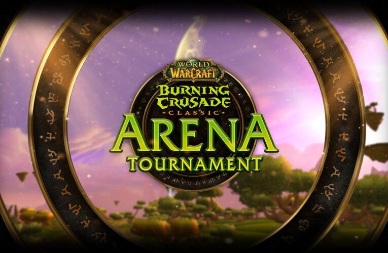 ¡El torneo de arena clásico de Burning Crusade comienza el viernes!